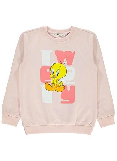 Tweety Kız Çocuk Sweatshirt Somon